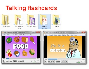 talking flashcards